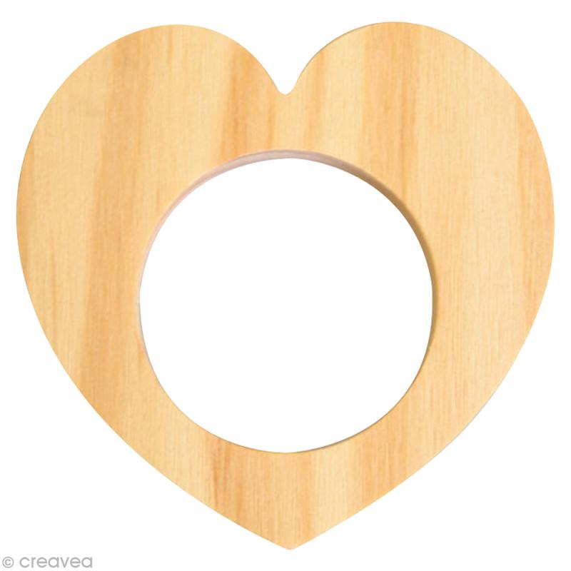 rond de serviette bois peindre coeur ustensile cuisine creavea. Black Bedroom Furniture Sets. Home Design Ideas