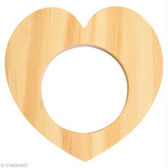 Rond de serviette bois à peindre - Coeur