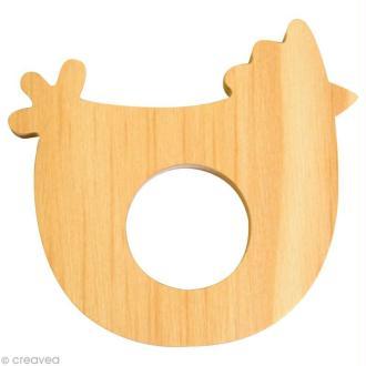 Coquetier en bois à décorer - Poule