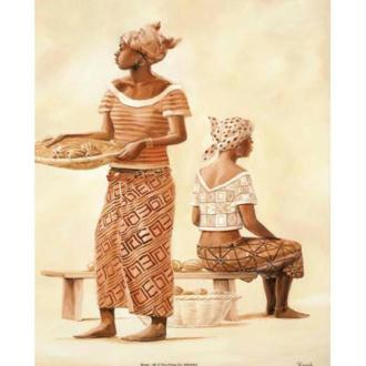Image 3D Femme - 2 africaines 40 x 50 cm