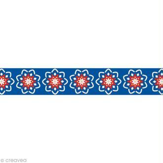 Masking tape Noël - Russe bleu - 15 mm x 10 m