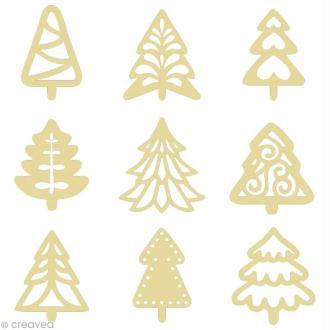 Set de mini silhouettes en bois Sapin x 27