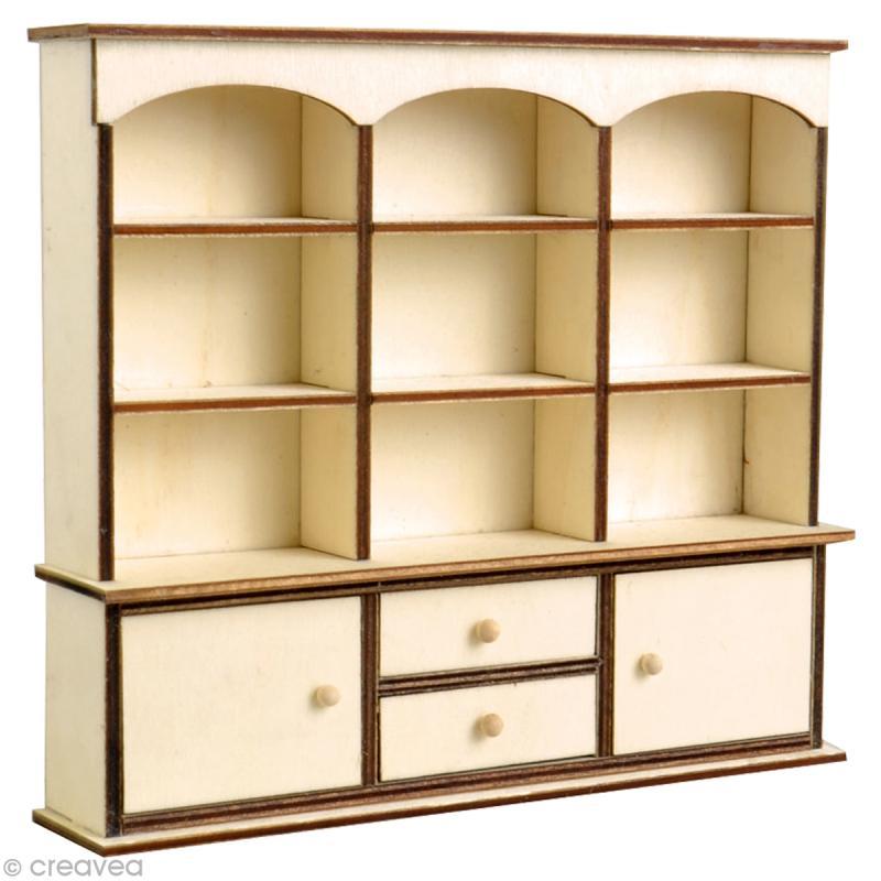 miniature vitrine en bois pour poup e 13 x 14 5 x 3 5 cm. Black Bedroom Furniture Sets. Home Design Ideas