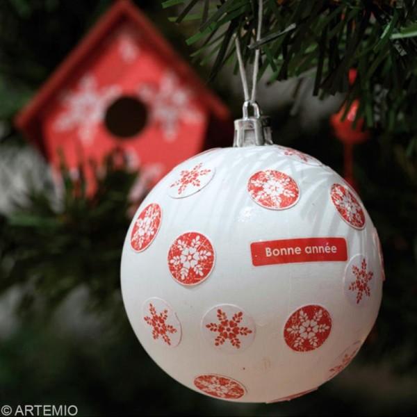 Boule de Noël 8 cm à décorer x 6 - Photo n°2