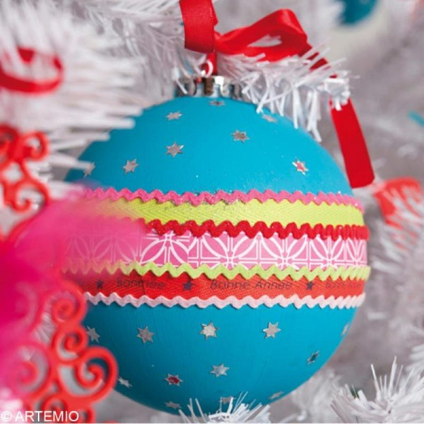 Boule de Noël 8 cm à décorer x 6 - Photo n°4