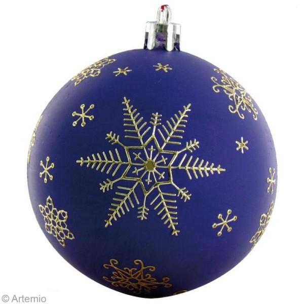 Boule de Noël 8 cm à décorer x 6 - Photo n°5