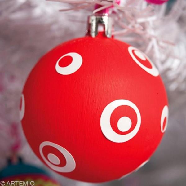 Boule de Noël 8 cm à décorer x 6 - Photo n°6