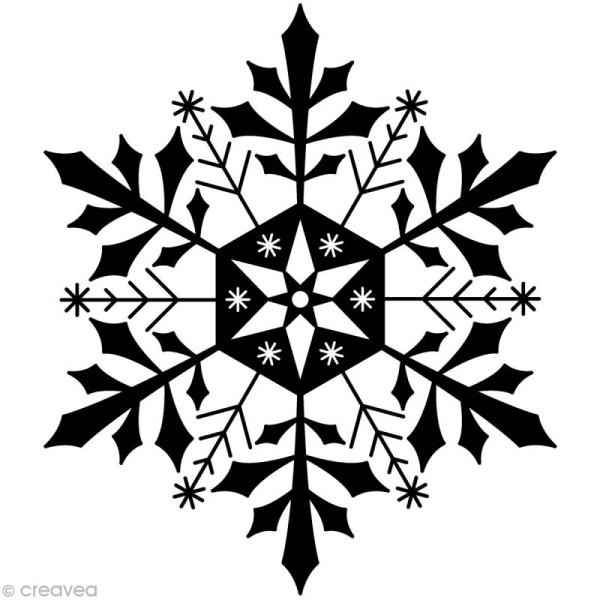 Tampon Noël - Flocon de glace - 5,8 x 7 cm - Photo n°1