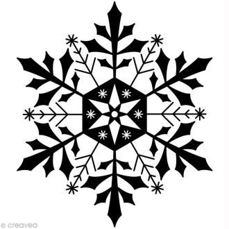 Tampon Noël - Flocon de glace - 5,8 x 7 cm