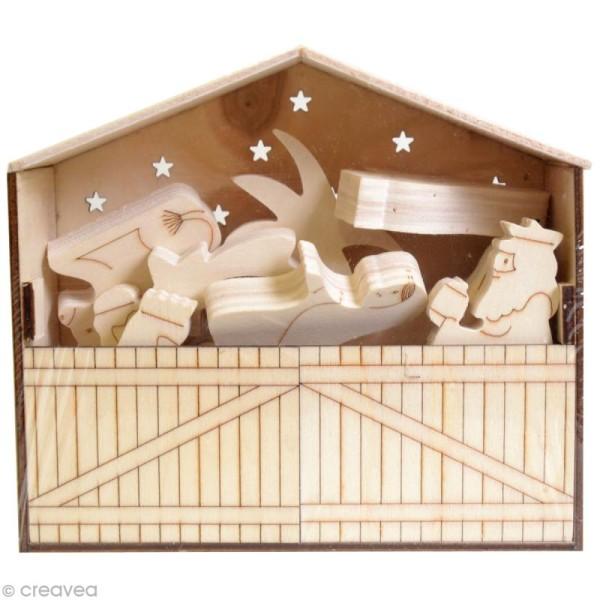 Crèche de Noël en bois à décorer - Photo n°2