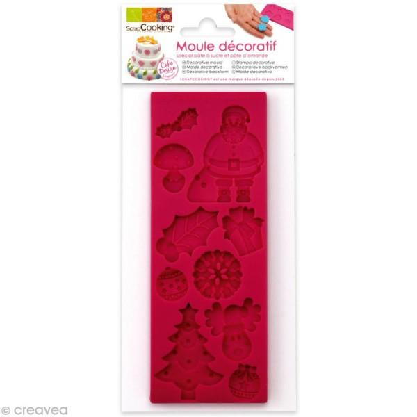 Moule pâte à sucre Noël - 10 moules - 16 x 6 x 0,8 cm - Photo n°1