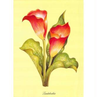 Image 3D Fleur - 2 fleurs rouges en cone 24 x 30 cm