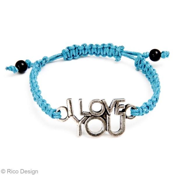 Kit bracelet type brésilien - Rose et noir - 4 bracelets - Photo n°3