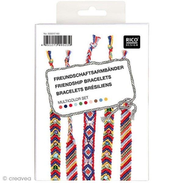 Kit bracelet brésilien Multicolore - Photo n°1