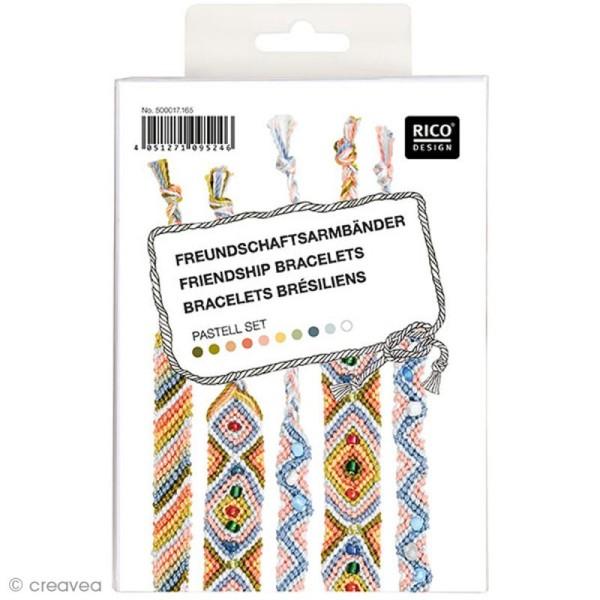 Kit bracelet brésilien Pastel - Photo n°1