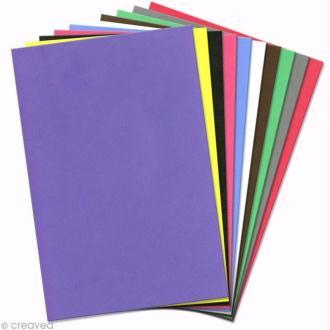 Papier mousse EVA 20 x 30 cm - Assortiment x 10 feuilles