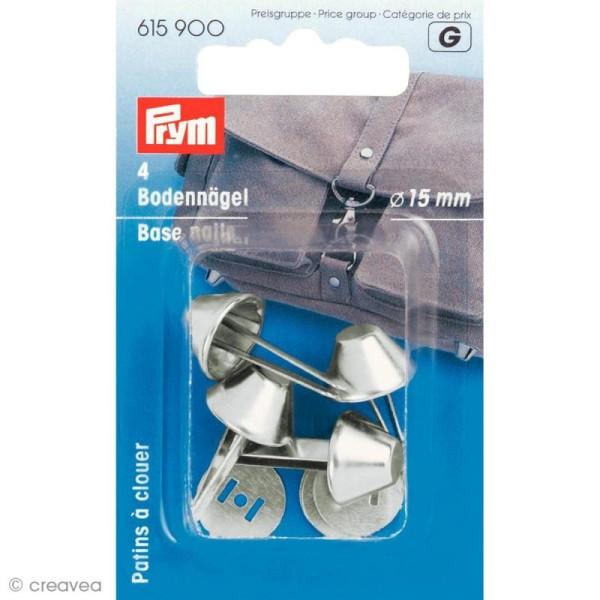 Patin pour sac 15 mm - Argent x 4 - Photo n°1