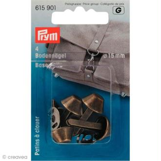 Patin pour sac 15 mm - Or x 4