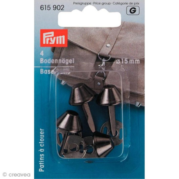 Patin pour sac 15 mm - Noir x 4 - Photo n°1