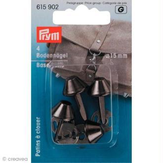 Patin pour sac 15 mm - Noir x 4