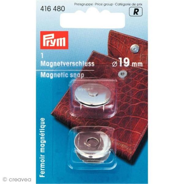 Fermoir magnétique 19 mm - Argent - Photo n°1