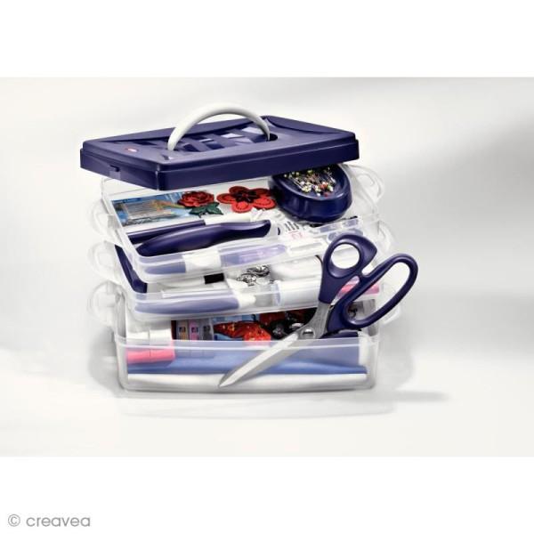 Boîte de rangement modulable Click box - 4 litres - Photo n°2