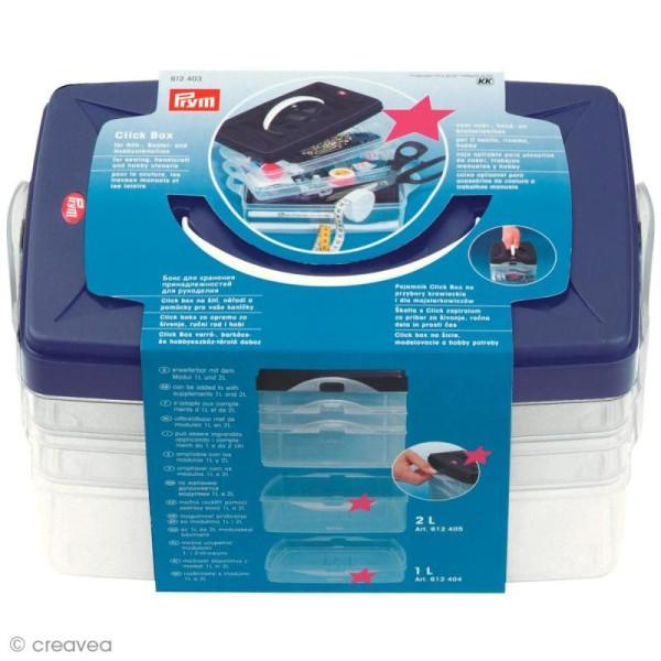 Boîte de rangement modulable Click box - 4 litres - Photo n°1