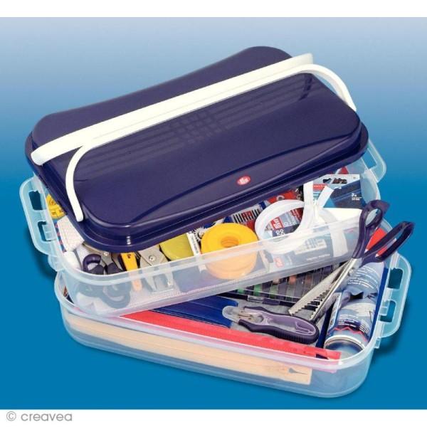 Boîte de rangement modulable Click box jumbo - 14 litres - Photo n°3