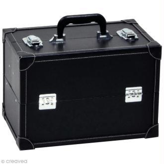 Valise de rangement aspect cuir - Taille L - 36 x 22 x 24 cm