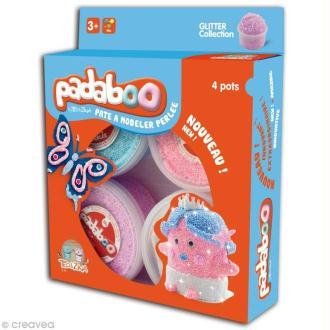 Pâte à modeler Padaboo - Perlée Glitter - 4 x 38 g