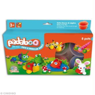 Pâte à modeler Padaboo - Lisse Classique - 8 x 28 g