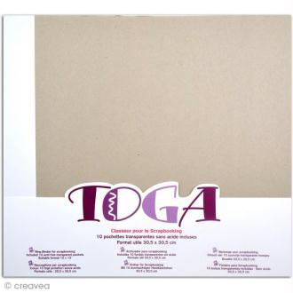 Album photo à décorer 30 x 30 cm + 10 pochettes