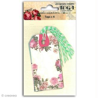 Tags étiquettes Romantique - 4,5 x 9 cm - 6 pcs