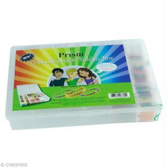 Boîte garnie de fils brésiliens et perles Prism box