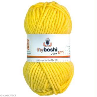 Laine à crocheter MyBoshi  n°1 - 113 Jaune - 50 gr x 55 m
