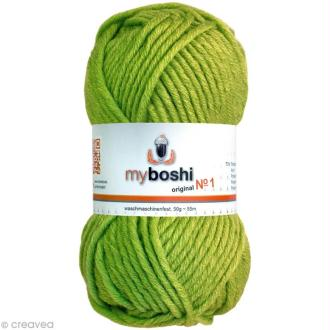 Laine à crocheter MyBoshi  n°1 - 121 Vert citron - 50 gr x 55 m
