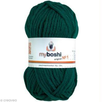 Laine à crocheter MyBoshi  n°1 - 123 Emeraude - 50 gr x 55 m