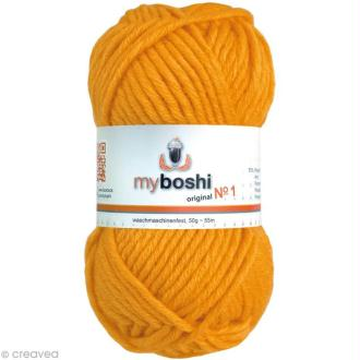 Laine à crocheter MyBoshi  n°1 - 137 Orange abricot - 50 gr x 55 m