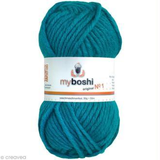 Laine à crocheter MyBoshi  n°1 - 152 Bleu turquoise - 50 gr x 55 m