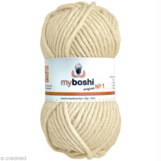 Laine à crocheter MyBoshi  n°1 - 171 Beige - 50 gr x 55 m