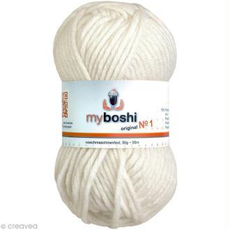 Laine à crocheter MyBoshi  n°1 - 191 Blanc - 50 gr x 55 m
