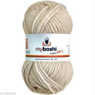 Laine à crocheter MyBoshi  n°1 - 192 Ivoire - 50 gr x 55 m