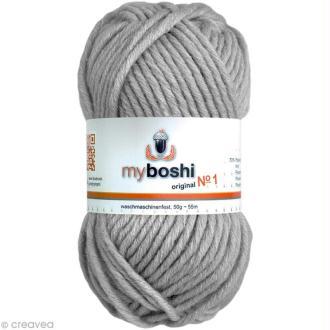 Laine à crocheter MyBoshi  n°1 - 193 Argent - 50 gr x 55 m