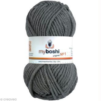 Laine à crocheter MyBoshi  n°1 - 194 Gris - 50 gr x 55 m