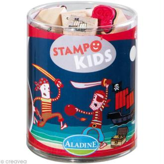 Kit 15 tampons Stampo'kids Pirates