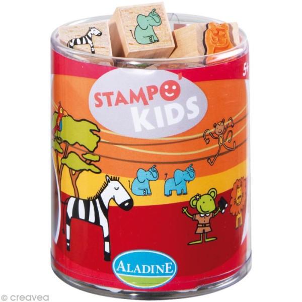 Kit 15 tampons Stampo'kids Lili dans la savane - Photo n°1