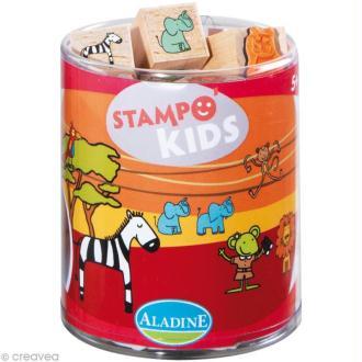 Kit 15 tampons Stampo'kids Lili dans la savane