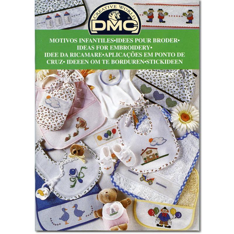 Mini Livre Point De Croix Dmc Idees Pour Broder Naissance Livre Broderie Creavea