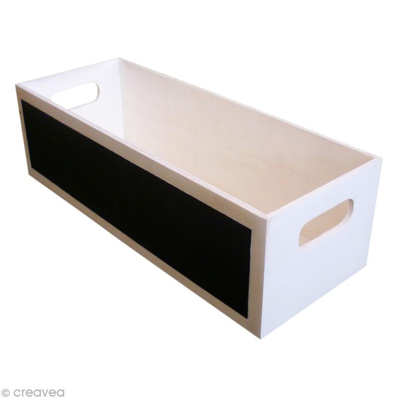 Bac de rangement rectangulaire en bois à décorer 26 cm - Objets à décorer - Creavea