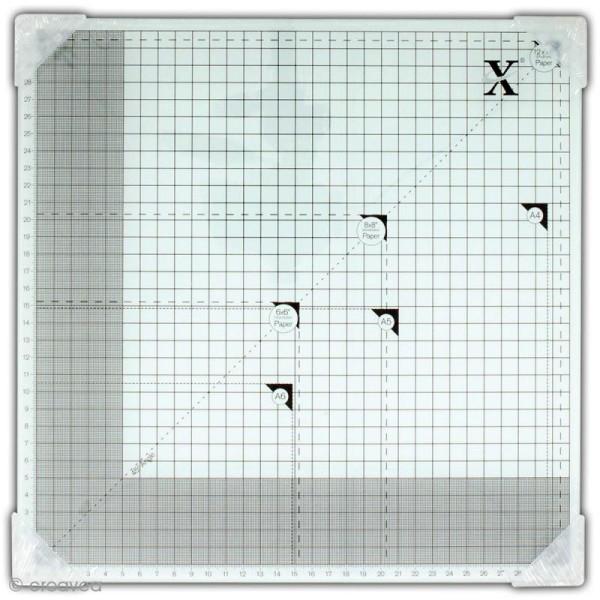 Tapis de coupe en verre trempé 33 x 33 cm - Photo n°1